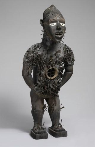 Power Figure (Nkisi N'Kondi: Mangaaka) Kongo peoples, Yombe group, Chiloango River region, Cabinda, Angola (photo Courtesy of the Metropolitan Museum of Art)