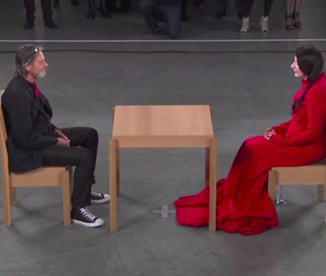 Marina Abramovic And Ulay Face Off During The Formers Performance The Artist Is Present