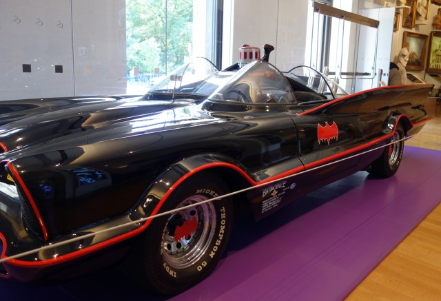 George Barris of Kustom City's Batmobile No. 3 (1966) (photo by the author for Hyperallergic)