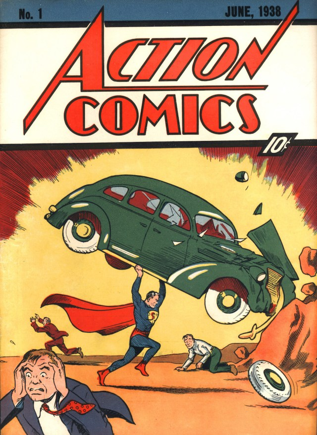 Jerry Siegel (writer) and Joe Shuster (artist), 'Action Comics' (No. 1, June 1938). Published by Detective Comics, Inc., New York (courtesy of Metropoliscomics.com)