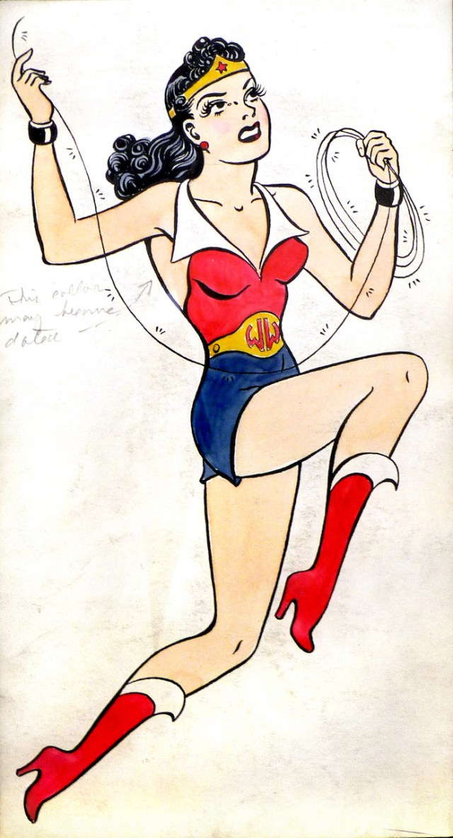 "H. G. Peter, ""Drawing of Wonder Woman in Costume"" (1941) (courtesy of Metropoliscomics.com)"