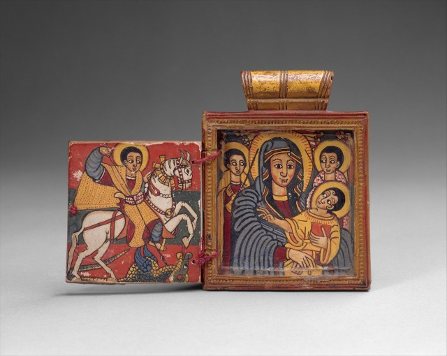 Double Diptych Icon Pendant from Ethiopia (early 18th century) (courtesy the Metropolitan Museum of Art)