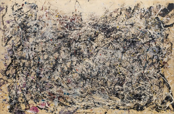"""Jackson Pollock, """"Number 1A, 1948"""" (1948) (image courtesy of MoMA, © 2015 Pollock-Krasner Foundation / Artists Rights Society, New York)"""