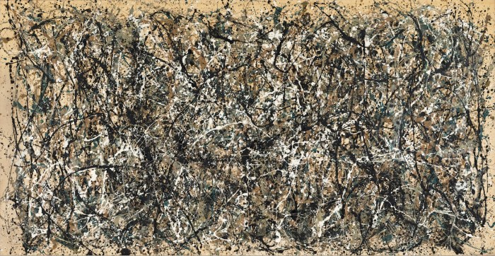 """Jackson Pollock, """" One: Number 31, 1950"""" (1950) (image courtesy of MoMA, © 2015 Pollock-Krasner Foundation / Artists Rights Society, New York)"""