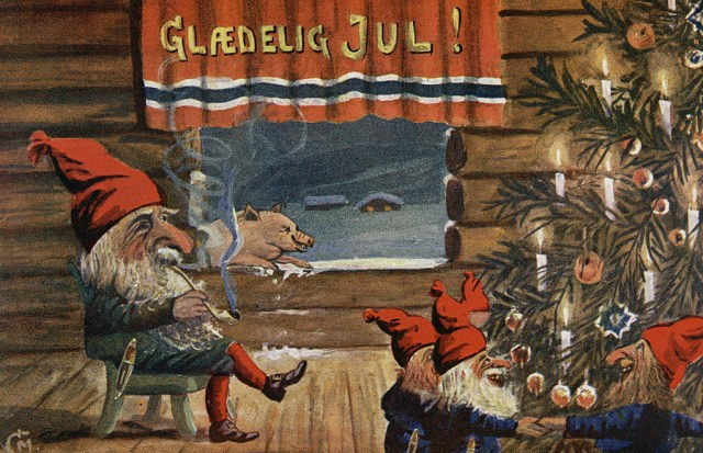 """Glædelig Jul"" (""Merry Christmas"") (1917) (via National Library of Norway/Flickr)"