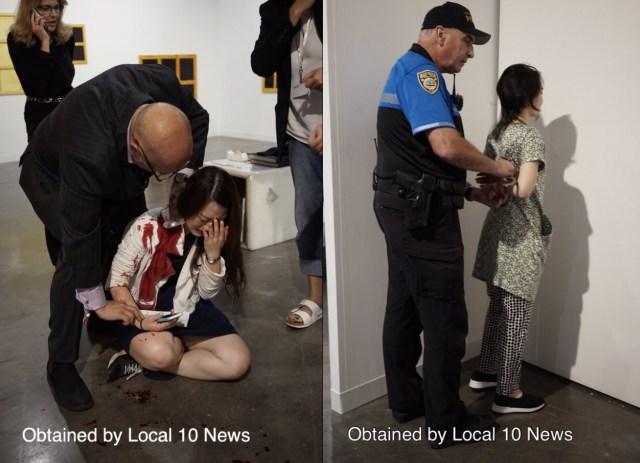 Images of the victim and assailant (via @LianeMorejonTV)