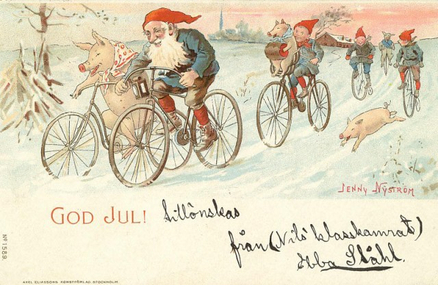 """God Jul"" (""Merry Christmas"") (before 1946), art by Jenny Nyström (wia Wikimedia)"
