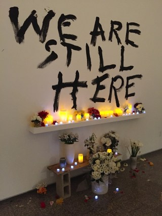 """We Are Still Here"" at the USC Fine Arts Lindhurst Gallery, Nov. 12, 2015"
