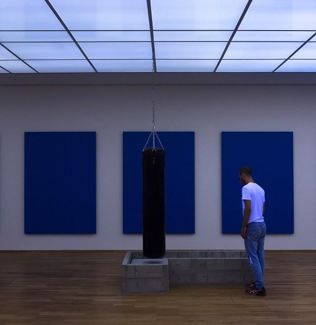 Installation view of Anne Imhof's work in the Preis der Nationalgalerie 2015 exhibition