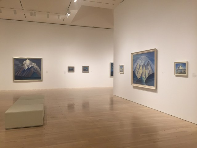 Installation view, 'The Idea of North: The Paintings of Lawren Harris'