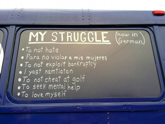 T.RUMP Bus My Struggle
