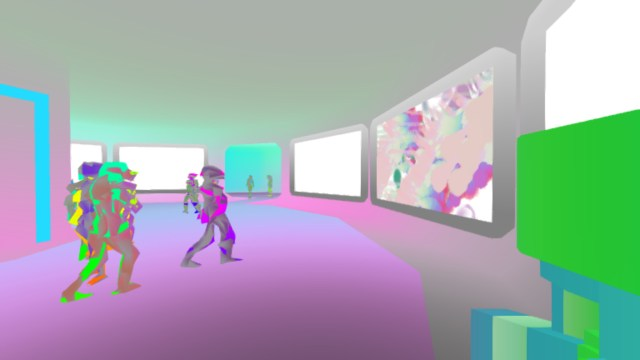 Joy exhibition by Strangethink (screenshot by the author for Hyperallergic)