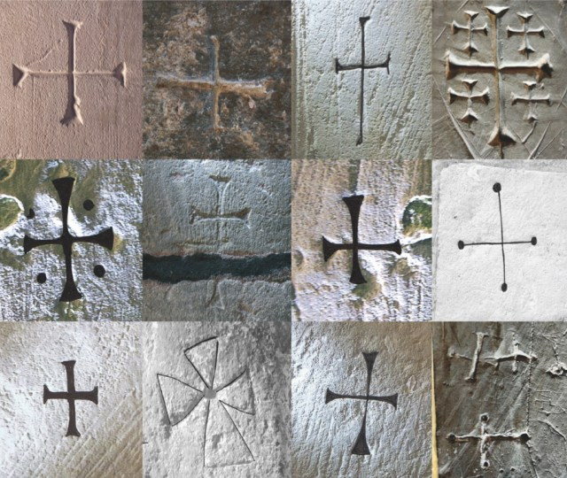 Crosses discovered in English medieval churches