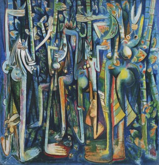 "Wifredo Lam, ""La Jungla"" (1943), oil on paper pasted on canvas, Museum of Modern Art, New York (courtesy the Museum of Modern Art, New York / Scala, Florence © Adagp, Paris 2015)"