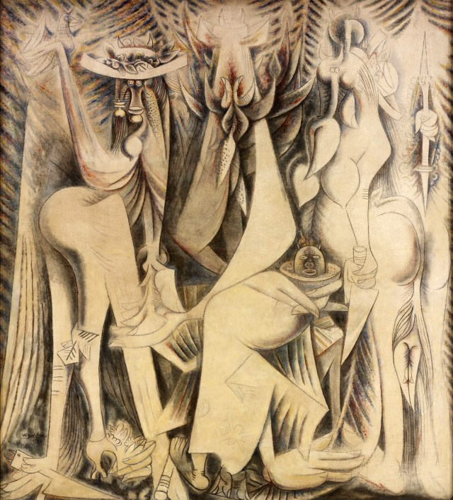 "Wifredo Lam, ""Le Présent éternel"" (1944), mixed media on canvas, RSID Museum of Art, Providence, Nancy Sayles Day Collection of Modern Latin American Art (photo by Erik Gould, courtesy of the RISD Museum of Art; © Adagp, Paris 2015"