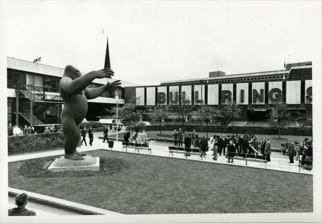 City Sculpture ProjectNicholas Monro, King Kong, for the City Sculpture Project, 1972, the Bull Ring Birmingham. Eight cities were loaned sculptures by emerging artists with the option to buy them. Only one of the 16 pieces commissioned was kept in situ. Some were even deliberately destroyed highlighting the negative attitude to 'modern' art. Copyright Arnolfini ArchiveExhibition details for Out There