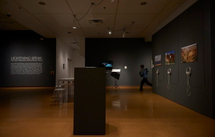 Installation view, photograph courtesy of Demian Dineyazhi