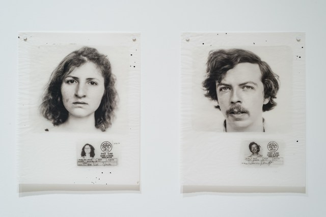 Student portraits from Wendy Snyder MacNeil, 'Class Portrait, Graduate Students in Photograph, Rhode Island School of Design,' installation view in 'The Light Inside: Wendy Snyder MacNeil, Photographs and Films' (2016) at Ryerson Image Centre (© Larissa Issler)