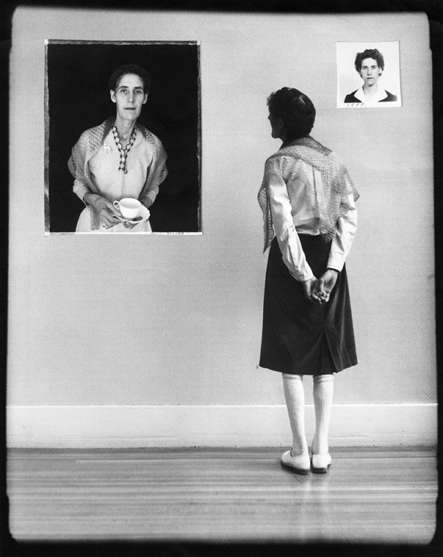 "Wendy Snyder MacNeil, ""Marie Baratte"" (1972), from the series 'Biographies,' gelatin silver print, Wendy Snyder MacNeil Archive, Ryerson Image Centre"