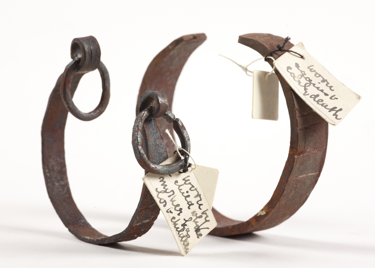 "Bracelets for ""shackling"" a child to life and warding off death (unknown maker, place, and date (Gaster Collection) (courtesy Chetham's Library)"