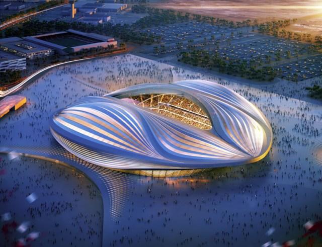 Zaha Hadid's design for Qatar's 2022 FIFA World Cup stadium (courtesy of Zaha Hadid Architects)
