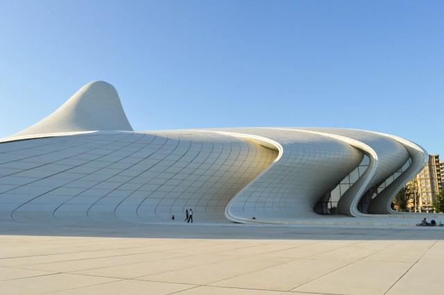 Zaha Hadid's Heydar Aliyev Cultural Center in Baku (photo by Francisco Anzola/Flickr)