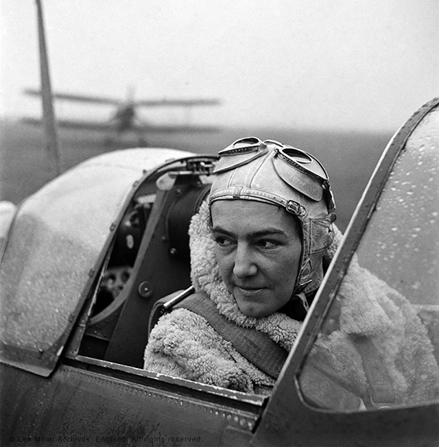 "Lee Miller, ""Anna Leska, Air Transport Auxiliary, Polish pilot flying a spitfire, White Waltham, Berkshire, England 1942"" (© Lee Miller Archives, England 2015)"