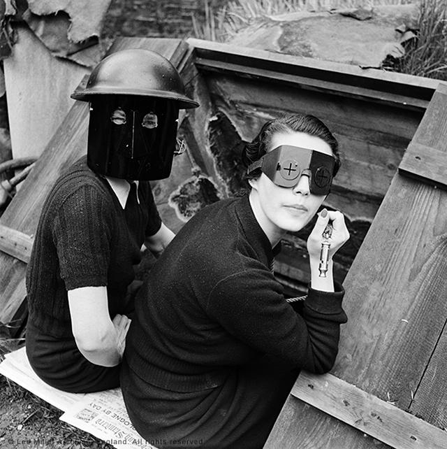 "Lee Miller, ""Fire Masks, Downshire Hill, London, England 1941"" (© Lee Miller Archives, England 2015)"