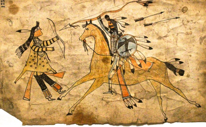 Detailed example of pictographic art of the Plains