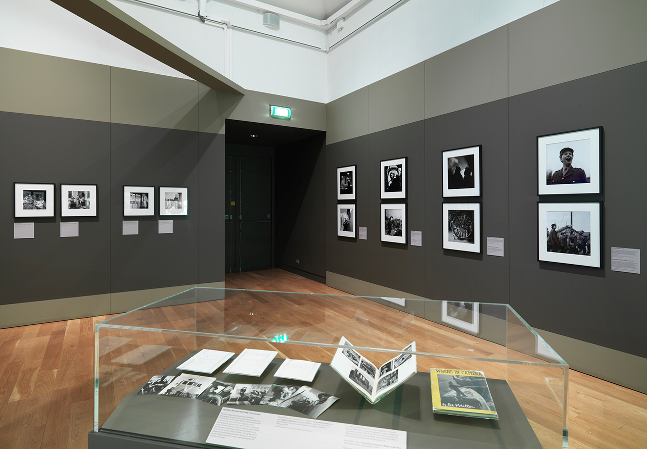 Installation view, 'Lee Miller: A Woman's War' at the London Imperial War Museum (image courtesy London Imperial War Museum)