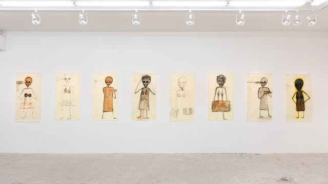 Installation view, 'Mira Schor: Death Is a Conceptual Artist' at Lyles & King (click to enlarge)