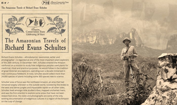 'The Amazonian Travels of Richard Evans Schultes' (screenshot by the author for Hyperallergic)