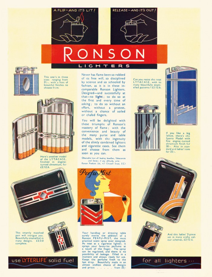 Advertisement for Ronson Art Metal Works (1925) (© Rodney and Diana Capstick-Dale)