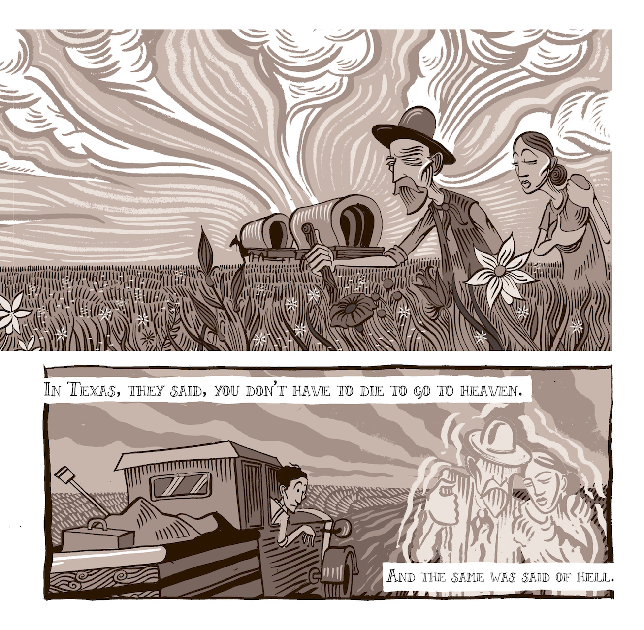 A Graphic Novel Chronicles Woody Guthries Dust Bowl Years