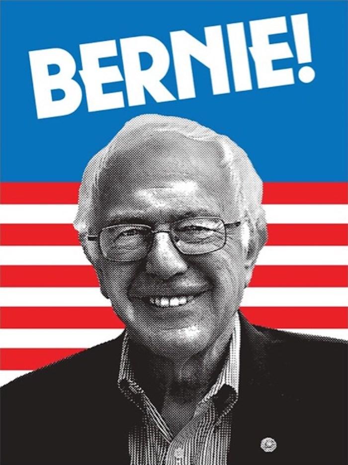 "Aaron Draplin ""Bernie"" (2016) (image courtesy of Bernie 2016)"
