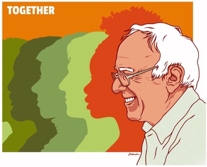 """Jermaine Rogers """"Together"""" (2016) (image courtesy of Bernie 2016)"""