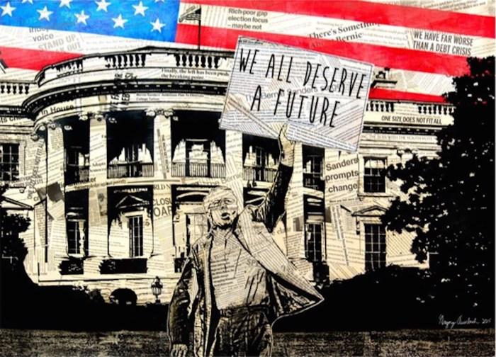 "Greg Auerbach ""We All Deserve a Future"" (2016) (image courtesy of Bernie 2016)"