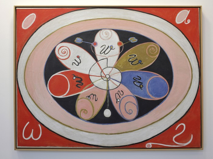 Installation view, 'Hilma af Klint: Painting the Unseen' at Serpentine Gallery, London, March 3–May 15, 2016) (image © Jerry Hardman-Jones)
