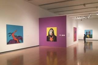 Installation view, 'Super Indian: Fritz Scholder, 1967–1980'