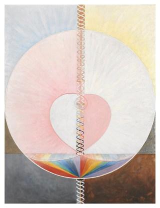 """Hilma af Klint, """"Group IX/UW, No. 25, The Dove, No. 1"""" (1915), oil on canvas, 151 × 114.5 cm (courtesy of Stiftelsen Hilma af Klints Verk; photo courtesy Moderna Museet / Stockholm)"""