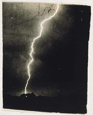 An 1882 photograph of lightning by William N. Jennings (via Wikimedia)