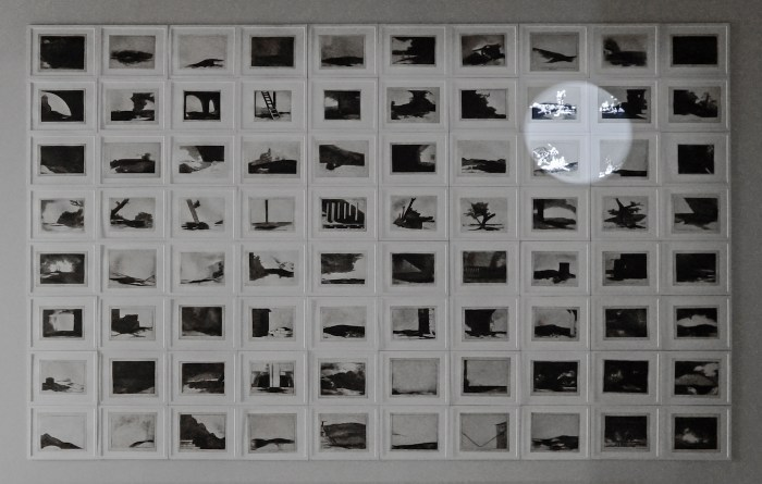 "Farideh Lashai, ""When I Count, There Are Only You ... But When I Look, There Is Only a Shadow"" (2012–13), suite of 80 photo-intaglio prints with projection of animated images, 3:46, Sharjah Art Foundation Collection (courtesy of the estate of the artist, image courtesy of Sharjah Art Foundation)"
