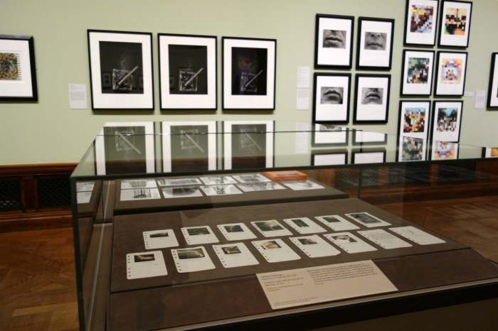 William N. Jennings's lightning photographs on view in 'Sight Reading: Photography and the Legible World' at the Morgan Library & Museum (photo by the author for Hyperallergic)