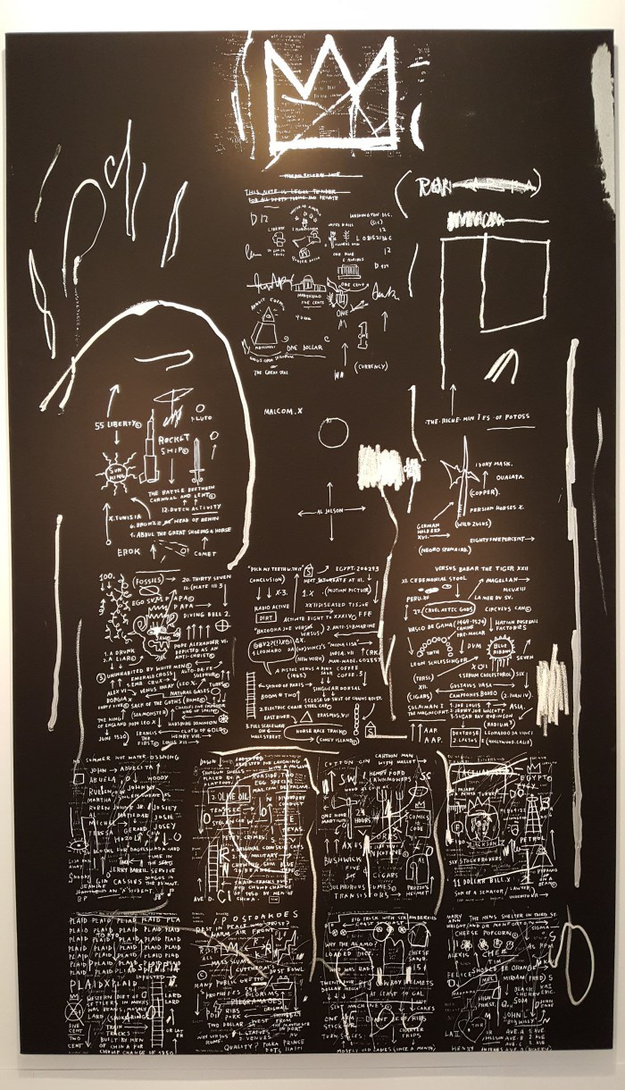 Jean-Michel Basquiat painting, presented by Van de Weghe (click to enlarge)