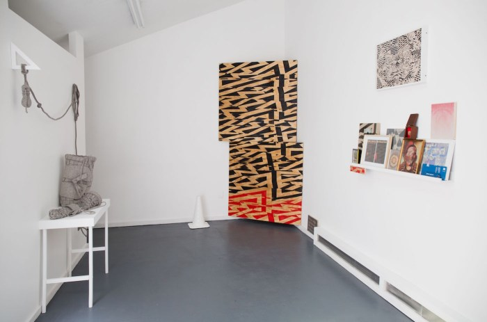 Installation view of 'free play' at Trestle Projects (unless noted, all images courtesy of the artists and Trestle Gallery)