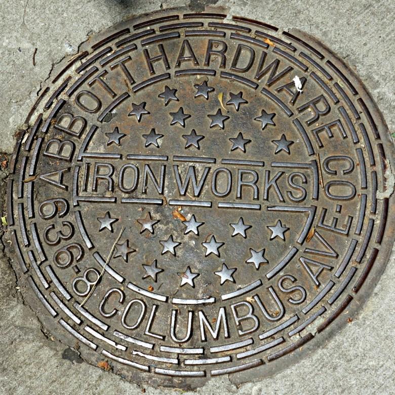 An Abbott Hardware Co. Ironworks cover