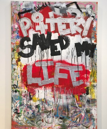 """Roebrto Lugo, """"Pottery Saved my Life"""" (2015) (photo by the author for Hyperallergic)"""