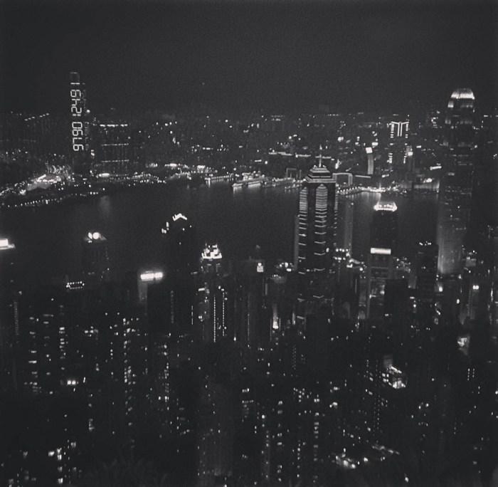 "Sampson Wong Yu-hin and Jason Lam Chi-fai's ""Our 60-Second Friendship Begins Now"" (2016) amid the Hong Kong skyline (all photos courtesy Sampson Wong)"