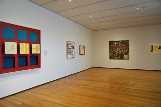 Installation view, 'Converging Lines: Eva Hesse and Sol LeWitt' at the Cleveland Museum of Art (click to enlarge)
