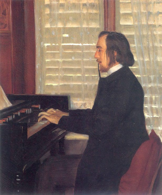 An artist's rendering of a younger Satie (Photo by Art Gallery ErgsArt via Flckr)